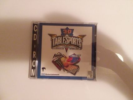 3-D Table Sports CD Rom Game