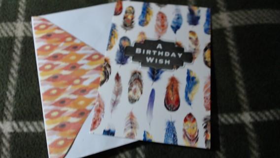 New Birthday Card W/Matching Envelope