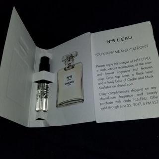 New! L'eau Chanel no. 5 perfune sample