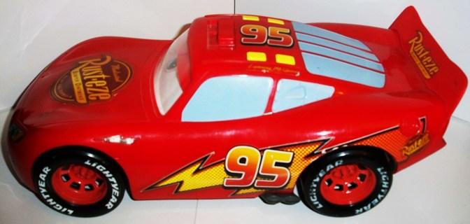 free large disney pixar cars lightning mcqueen talking race car