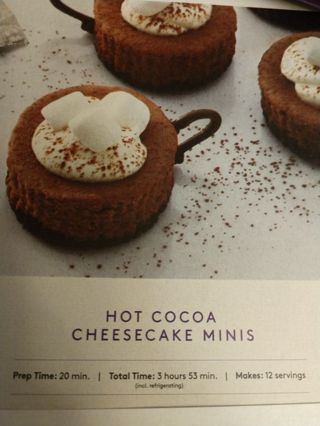 Hot Cocoa Cheesecake Minis Recipe