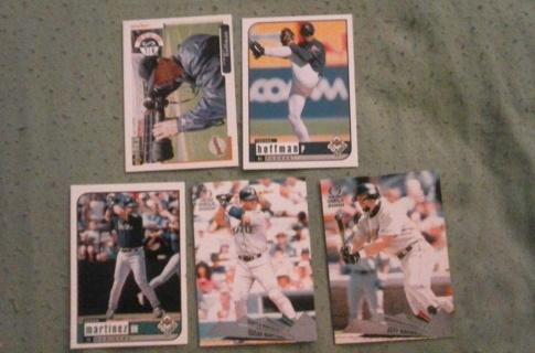 5 card baseball hall of famers lot