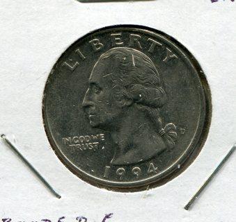 1994 D Washinton Quarter Error-Abraded Die