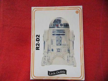 Star Wars R2D2 collectors card
