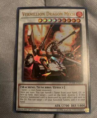 ULTRA RARE HOLO VERMILLION DRAGON MECH YUGIOH CARD