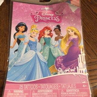 Disney Princess Tattoo- 25ct BNIP
