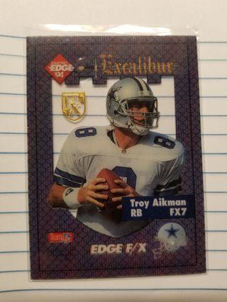 """1994 Excalibur Gold Shield Plastic """"Troy Aikman"""" FX7"""