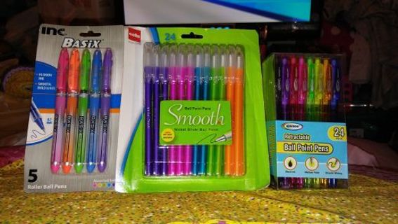 ☆ミ☆彡☆BRAND NEW 53 PIECE INK PEN BUNDLE☆ミ☆彡☆WINNER GETS ALL!!
