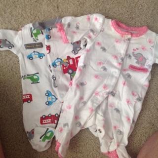 2 Preemie onesies by Carter's