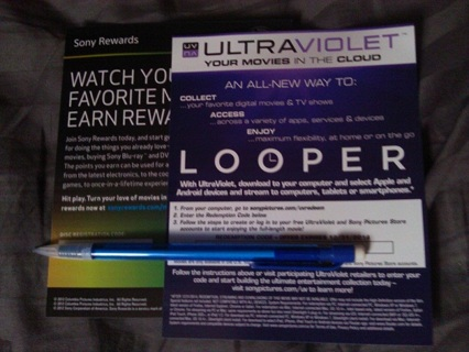 Free: Looper Ultraviolet Code and Sony Rewards Code! - Other