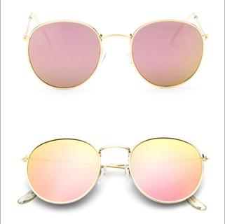 New Fashion Men Women's Round Sunglasses Vintage Retro Oversized Mirror Glasses.
