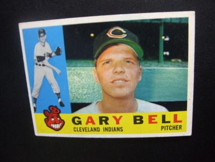 1960 - TOPPS NRMT - MINT BASEBALL CARD NO. 441 - GARY BELL - INDIANS