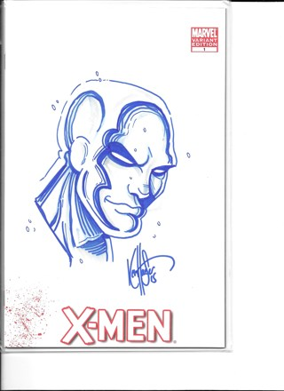 X-Man #1 Signed and Remarked in Color by Ken Haeser
