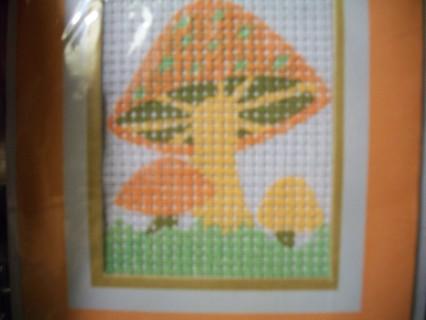 creative needlepoint cards mushroom craft kit