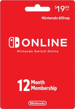 Nintendo Switch Online 12 Month Code