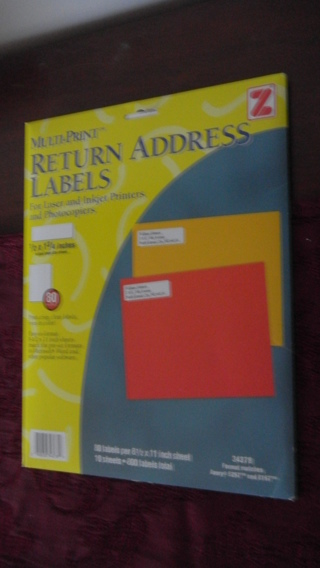 free avery 5267 8167 return address labels office supplies