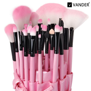 Vander Pro 32PCS Superior Soft Cosmetic Makeup Brush Pink Set Kit