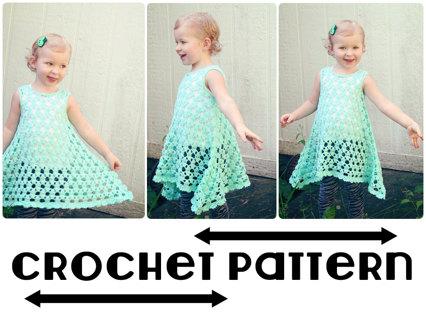 Free Pdf Crochet Pattern For Chloe Summer Dresstunic Size 2t To