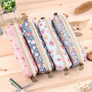 Vogue Flower Floral Lace Pencil Pen Case Cosmetic Makeup Bag Zipper Pouch New