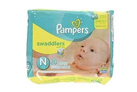 ❤2 PACKAGES- PAMPERS SWADDLERS NEWBORN ~ PACKAGES OF 20 = 40~ FACTORY SEALED ❤