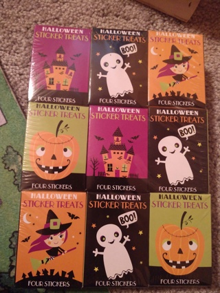 18 Halloween Sticker Packs