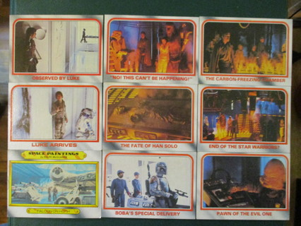 (9) 1980 Topps Empire Strikes Back Star Wars Cards