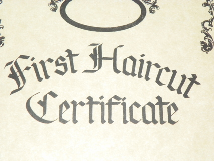 Free: First Haircut Certificate - Other Baby Items - Listia.com ...