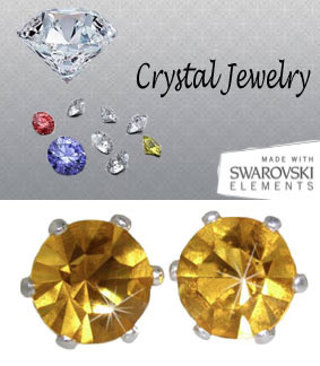 2 CARAT TW SWAROVSKI CRYSTAL STONE STUD EARRINGS Your Color Choice MANY COLORS HIGH!