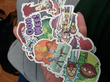 Rick and Morty stickers (6)