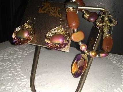 BNWT earrings and bracelet set