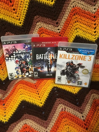 PS3 GAMES KILLZONE 3 BATTLEFIELD 3 SONY PLAYSTATION 3 GAME LOT FREE SHIPPING