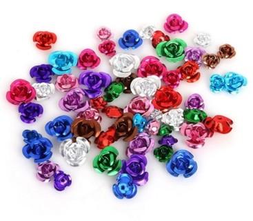 50 Multi Colored Aluminum Roses