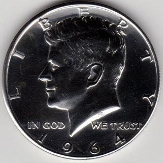 1964 Kennedy Half Dollar 90% Silver U.S. 50 Cent Coin