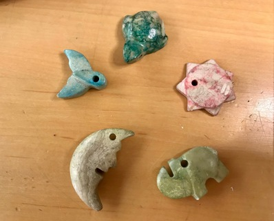 Lot of Sweet Hand Carved Stone Pendants