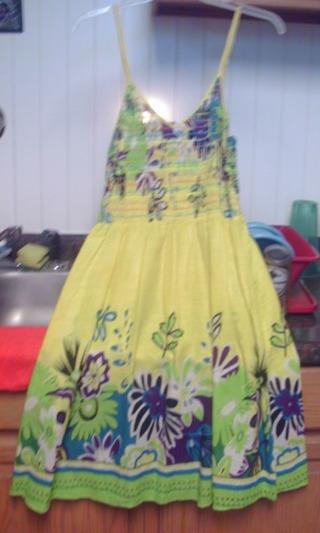 Yellow Sundress XL Slender Womans
