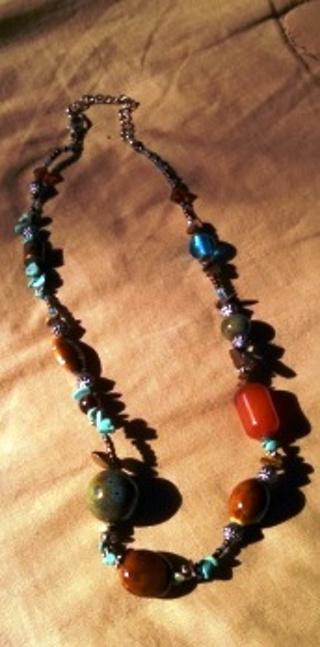 Multi-colored beads custom jewelry