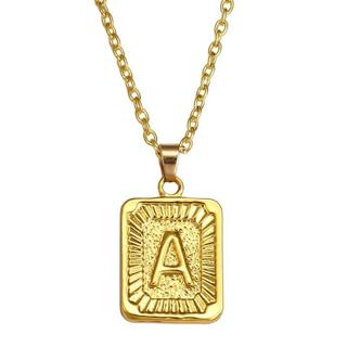 SRCOI Gold Stainless Steel Letter Pendant Necklace Custom Initial Alphabet Choker Necklaces For Wo
