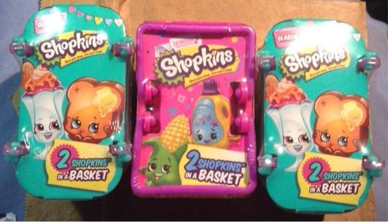 SHOPKINS Season 2&3 (3 B.N. Baskets Sealed)