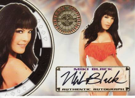 MIKI BLACK 2013 BENCHWARMER VEGAS BABY CERTIFIED SIGNED AUTOGRAPHED MODEL TRADING CARD