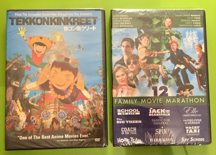 New 12 Family Movie Marathon DVD
