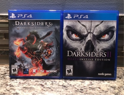 Darksiders - Warmastered Edition & Darksiders II - Deathinitive Edition  (MINT / PS4)