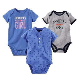 New Baby Bodysuit Lovely Printing Infant Jumpsuit Pure Cotton Short Sleeve Boys Girls Baby Clothes