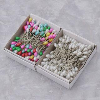 144Pcs Bead Pins Sewing Needles Pearl Head Multicolor Dressmaking