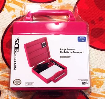 NEW Nintendo DS lite Video Game Console System HEAVY DUTY Traveler Storage Case Mini Pink Suitcase