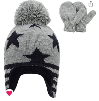 Durio Hat Mittens Toddler Hat and Mitten Set