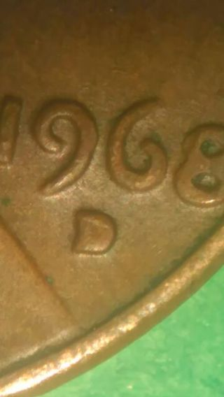 Free: 1968 D penny filled in mint mark error coin - Coins