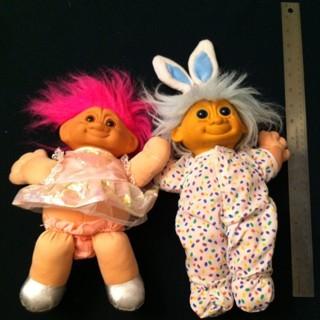 """Troll Gnome Plush Dolls 11"""" tall"""