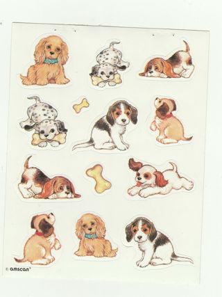 Vintage cute doggie Sticker