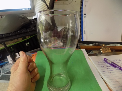 9 inch tall thick glass pilsner beer glass # 1