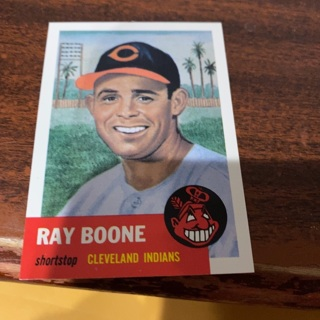 1953 topps archives Ray Boone baseball card